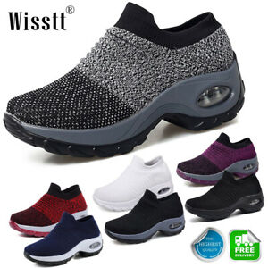 Women-039-s-Mesh-Air-Cushion-Breathable-Sneakers-Pump-Sports-Walking-Trainers-Shoes