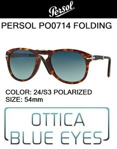 67f90aa0dc8 PERSOL PO 0714 24 S3 polarized 54 Sunglasses folding pieghevole ...