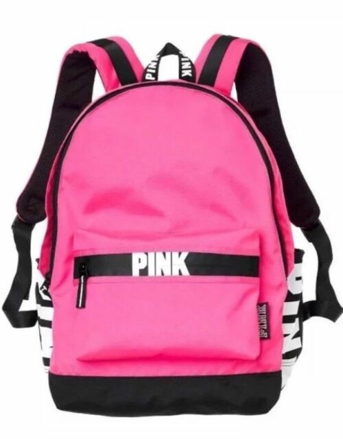 8297f8434af0 Victoria s Secret Pink on Fleek Neon White Logo Campus Backpack Bookbag