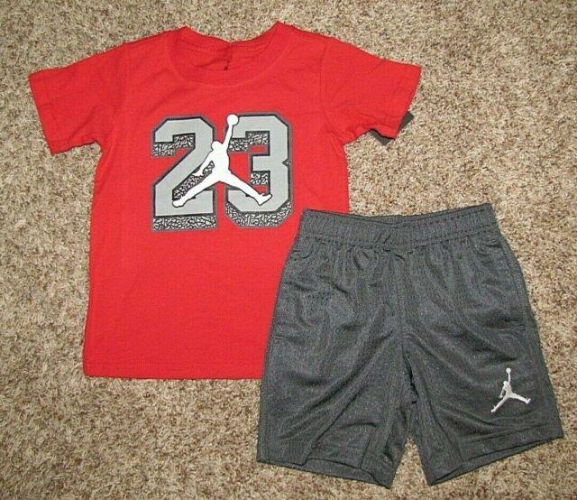 87c3310562fe Nike Air Jordan Boy s Set Jumpman Shirt Shorts 2t for sale online