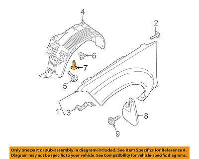 NISSAN OEM-Fender Liner Splash Shield Push Clip Retainer Blind Rivet 015532DR9A