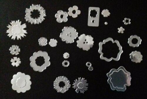 Lot de 13 SIZZIX Die Coupe Fleur Fleurs Thinlits Fits Big shot cuttlebug