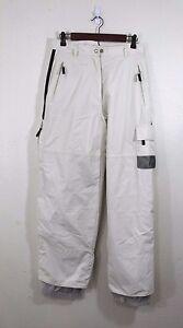 OBERMEYER-Off-White-Nylon-Snowboard-Ski-Snow-Winter-Pants-Size-Ladies-8
