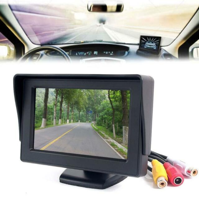 "4.3"" TFT LCD Rotary Backup Monitor For Car Reversing Rear View Camera GPS DVD Y8"