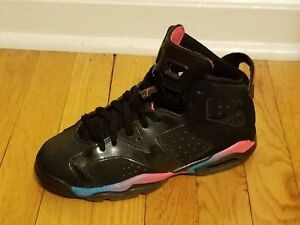 new product 31a12 e645d Image is loading Girls-Air-Jordan-6-VI-Retro-Basketball-Shoes-