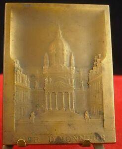 Médaille circa 1900 La Sorbonne et sa cour d'honneur par J Picaud Medal 铜牌 - France - Type: Médailles franaises Métal: Bronze - France