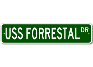 USS-FORRESTAL-AVT-59-Ship-Navy-Sailor-Metal-Street-Sign-Aluminum