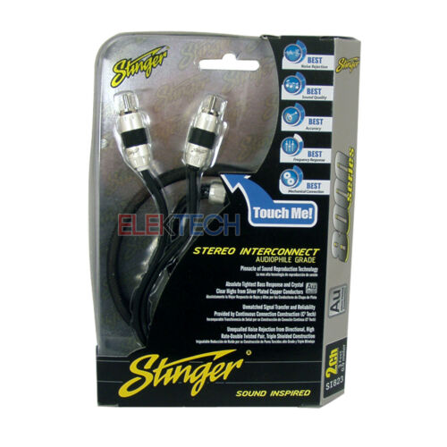 3 SI823 RCA Interconnect Audio 3ft Cable for 6 Channel Install Three Stinger