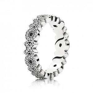 XOX-Ring-925-Solid-Sterling-Silver-Pave-Hugs-Kisses-Stacking-Band-Size-7-54