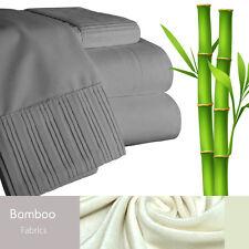 Bamboo Living Eco-Friendly 3 Piece Duvet Cover Pillowcases Set - Queen - Gray