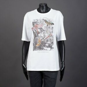 ALEXANDER-MCQUEEN-465-White-Cotton-Printed-Tshirt-With-Butterfly-Embroideries