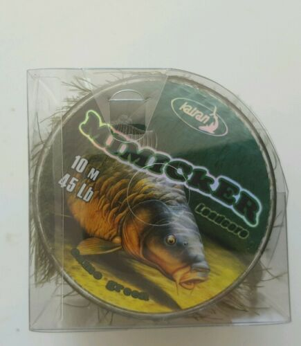 Leadcore-Mimicker-By-Katran-45lb-Weed-Algae-Affect-10m-Spool