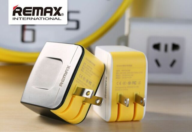REMAX Dual USB AC Adapter 3.4A Home Travel Wall Charger For Iphone Samsung HTC