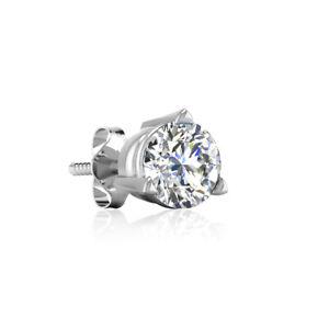 Herren Single Ohrringe Ohrstecker Weißgold 585 Diamant 0,08ct Gold 14 karat Neu