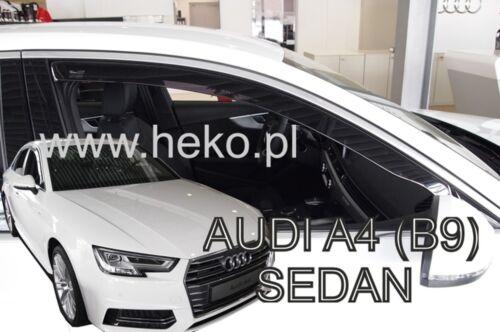 AUDI A4 B9 4//5 puerta 2016-UP conjunto de frente viento desviadores 2pc Heko Teñido