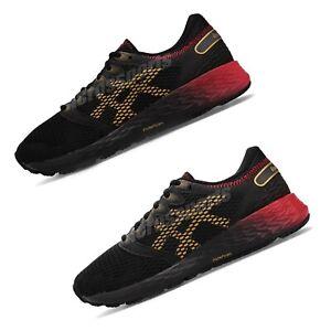 Asics-Roadhawk-FF-2-FlyteFoam-Black-Red-Gold-Womens-Mens-Running-Shoes-Pick-1