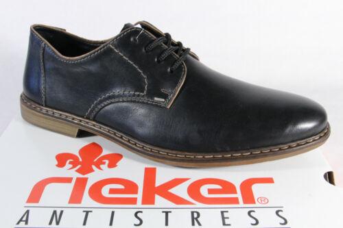 Rieker Herren Schnürschuhe Halbschuhe Sneaker schwarz Leder 13422   NEU!
