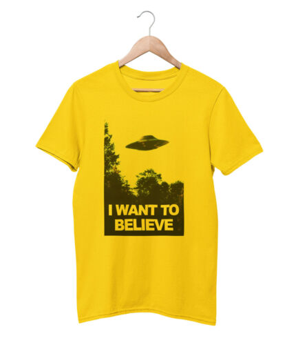 I WANT TO BELIEVE T SHIRT UNISEX SIZES XS-5XL UFO PRINT TOP TEE CULT X-FILES