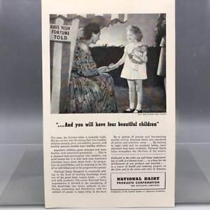 Vintage-Revista-Anuncio-Estampado-Diseno-Publicidad-Nacional-Dairy-Asociacion