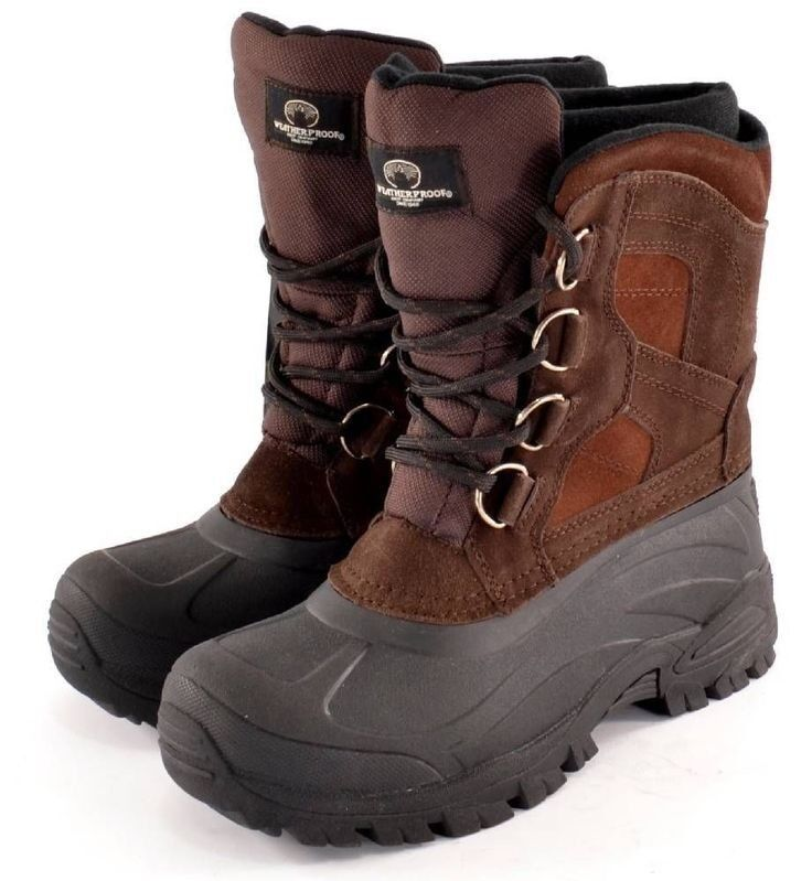 Therma Weatherproof Waterproof Thermalite Insole Icy Brown Snow Winter Stivali 10