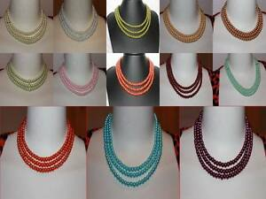 Details About 3 Layer Glass Pearl Ladies Magnetic Necklace Wedding Or Prom Gift Fashion Ideas