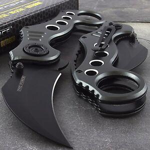 "7.75"" GRAY TAC FORCE KARAMBIT SPRING ASSISTED FOLDING TACTICAL POCKET KNIFE Open"
