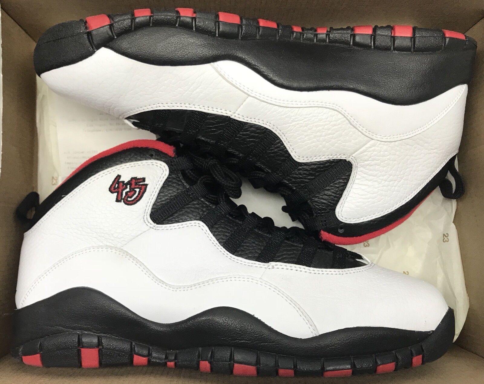 Jordan Retro X Double Nickel White Red Black Chicago 310805-102 Sz 10
