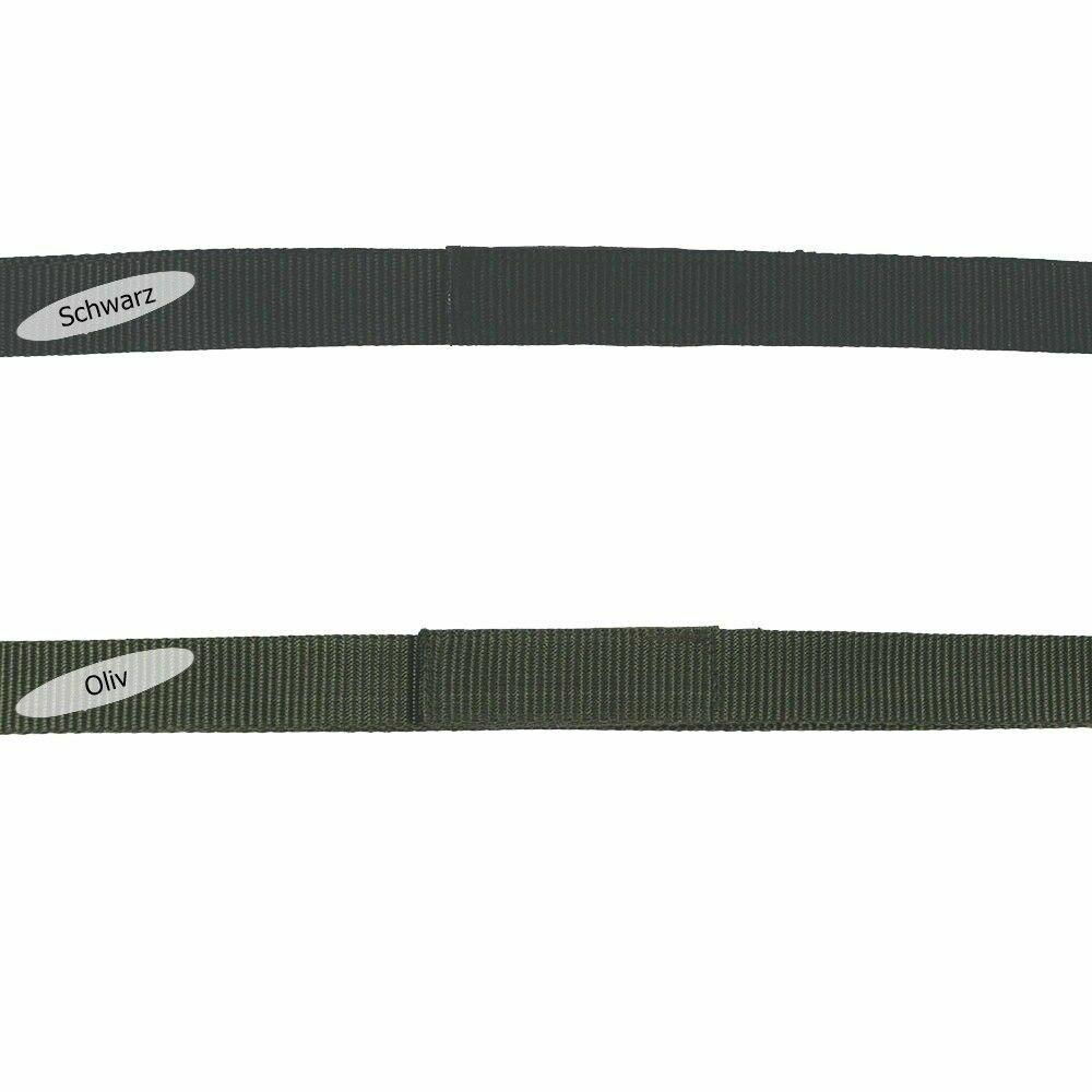 MFH Gürtel mit Klettverschluss Breite 3,2 cm Länge 90-140 cm Nylon Schwarz Oliv