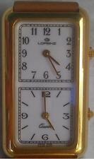 Original Lorenz DualTime watch Quartz 22x40mm Yellow Gold Plated NEW ! !