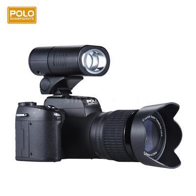 POLO D7200 33MP Digital DSLR Camera Camcorder Flash&Wide Angel & Telephoto Lens
