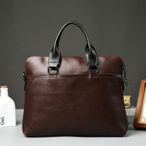Work Office Bags Mannen Documents 14 Inch Laptop Pu Leather Bag For Men New