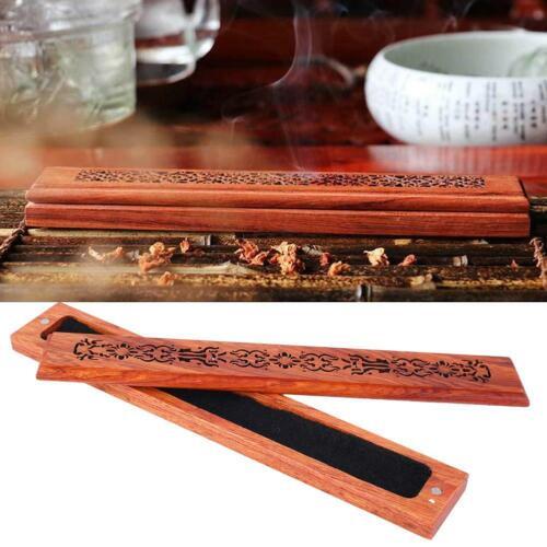 Handmade Bamboo Incense Holder Burner Joss Box Stick Holder Home Decor Box