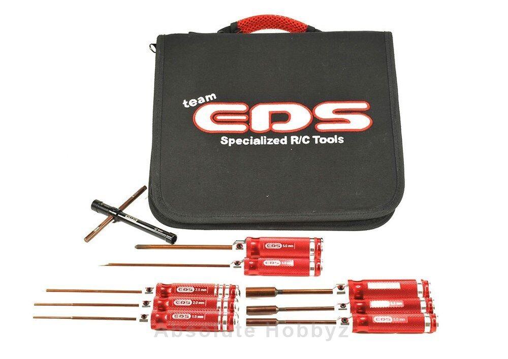 Eds Racing Combo Conjunto de herramientas con bolsa de herramientas - 9pcs (métricas) - eds-290904