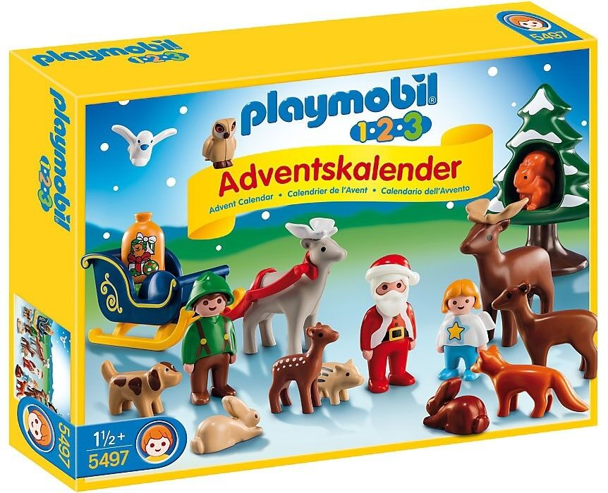 Playmobil Advent Calendar 1.2.3 Christmas in the Forest Set  5497