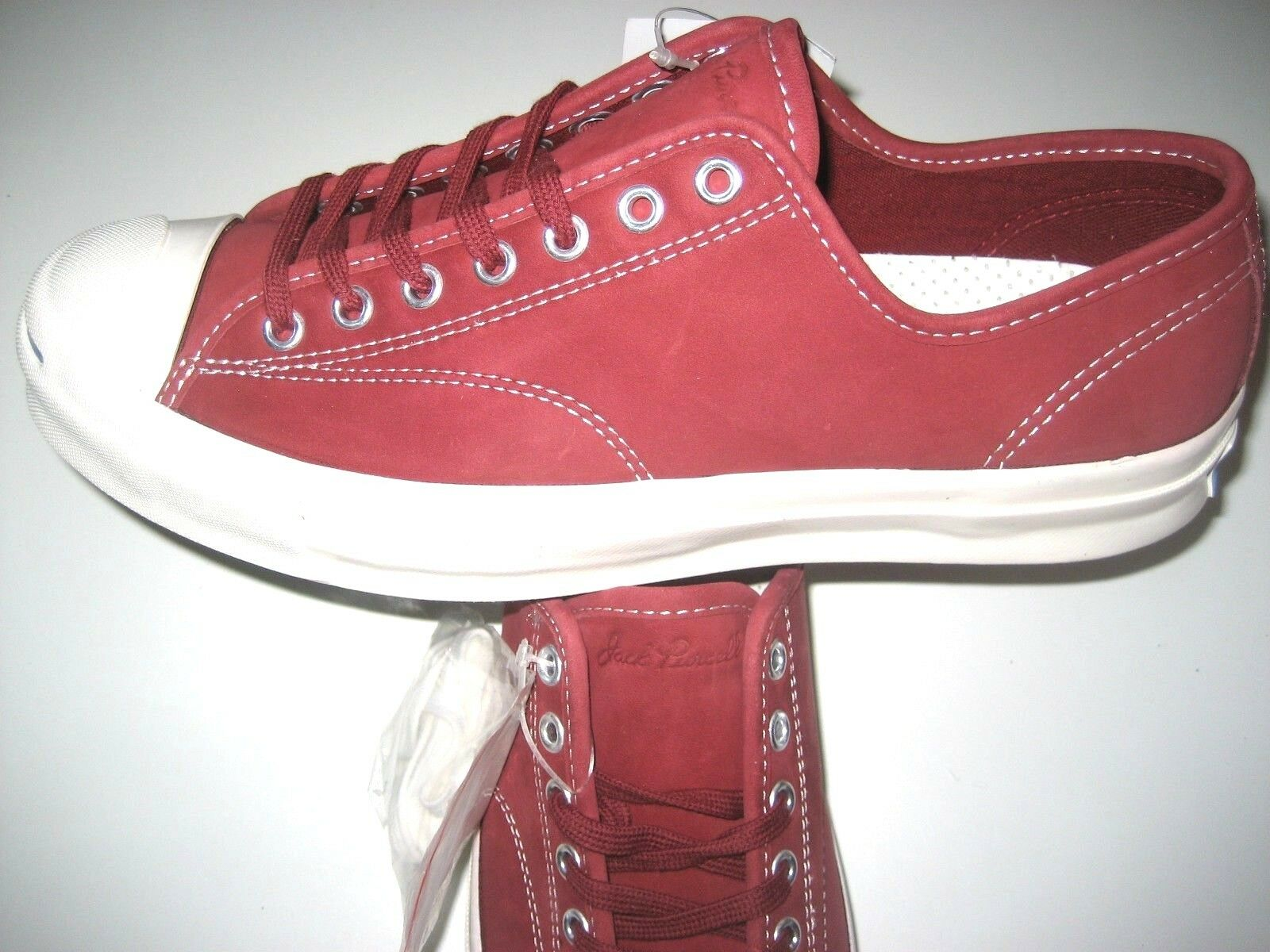 23ee64bae70e Converse Converse Converse Mens Jack Purcell JP Signature OX Red Block  Leather shoes Size 9.5 New ...
