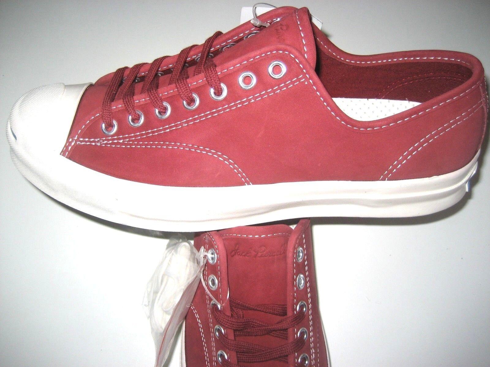 Zapatos Jack  De Cuero Converse Jack Zapatos Purcell JP firma Ox Hombre Rojo Bloque Nuevo 91619c