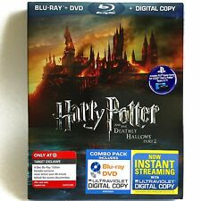 Harry Potter Deathly Hallows Part 2 (4-Disc Blu-ray/DVD) NEW ! w/Slipcover!