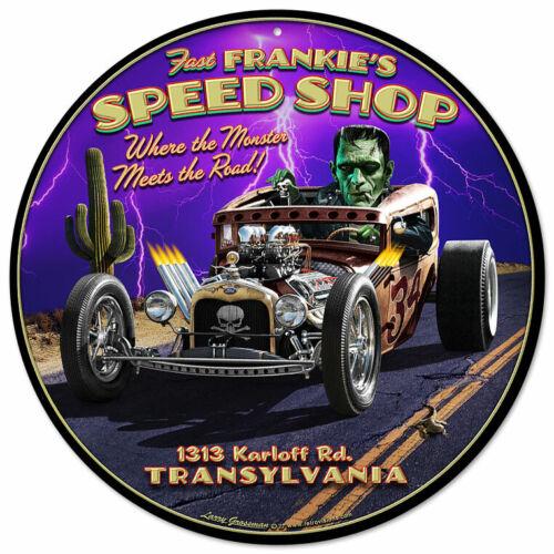 VINTAGE SIGN Frankie/'s Speed Shop 14 x 14