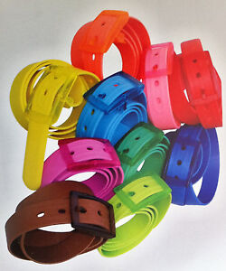 NEW-Rubber-Vinyl-Plastic-Silicone-Casual-Belt-Buckle-One-Size-Fits-All