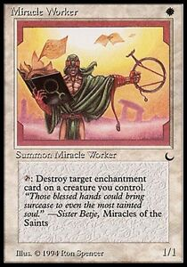 4x Miracle Worker The Dark MtG Magic White Common 4 x4 Card Cards MP