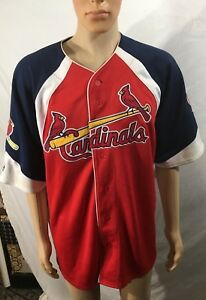 huge selection of c044a 90534 Details about St. Louis Cardinals #5 Pujols MLB Majestic Jersey Size Large  Red White & Blue