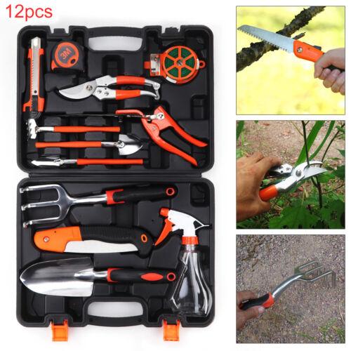 12x Gardening Tool Set Kit Garden DIY Case Ruler Rake Shovel Promotion