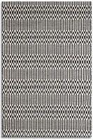 Serengeti 01 Black White Wool Designer Rug In Various Sizes