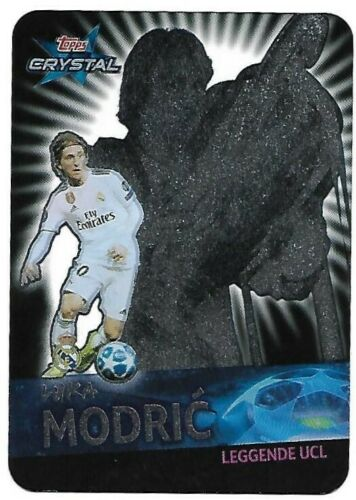 TOPPS CRYSTAL CHAMPIONS LEAGUE 2019 N.124  MODRIC REAL MADRID LEGGENDE UCL NEW