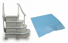 Confer 4-Step Above-Ground Swimming Pool Curved Grand Entry System Steps + Mat