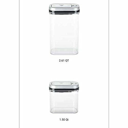 Kitchen Trend Vacuum Seal Lid Food Storage System 2 Piece Bundle 2.6qt And 1.5qt