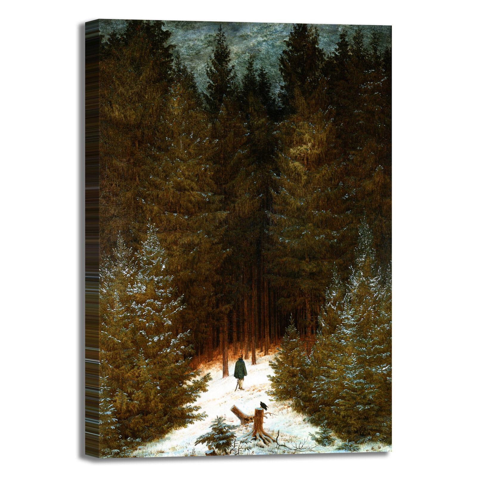Caspar cacciatore nella foresta quadro stampa tela dipinto casa telaio arRouge o casa dipinto e43dcc