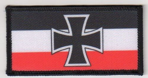 "Ricco bandiera con EK /""RICAMATE/"" Patch Germania 4,5 CMX 9 cm//GERMAN FLAG//Imperial"