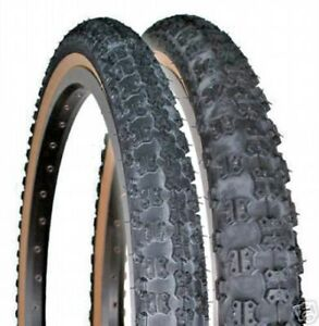 20x1.75 Black Comp III 3 BMX skinwall tires pair by CST
