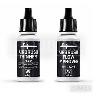 Vallejo-Airbrush-Thinner-Flow-Improver-Model-Spray-Paint-17ml-Bottle-71-261-262